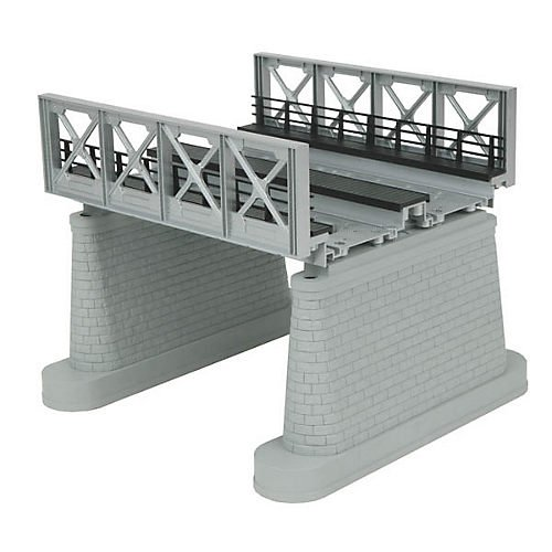 Mathsoft NYA O 2-Track Bridge Girder, Silver Multi-Colored