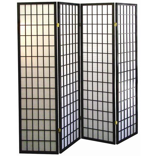 Black ORE International R530 3-Panel Room Divider Furniture