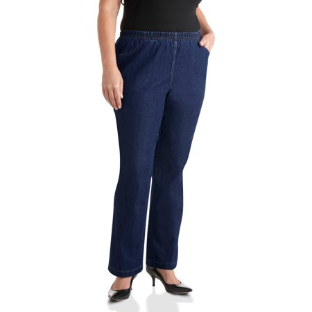 Just My Size Women's Plus-Size 4-Pocket Stretch Boot cut Pull-On Denim Jeans  Available in Regular and Petite Lengths