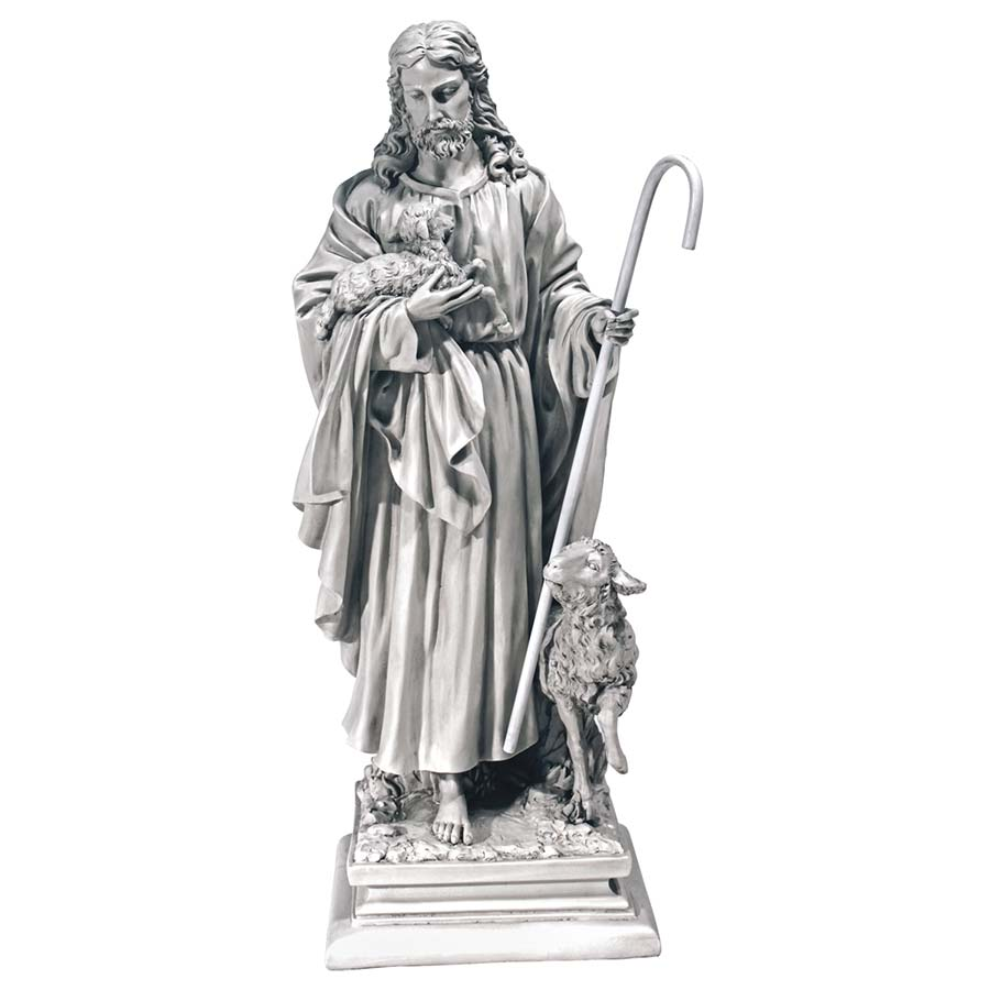 Jesus, The Good Shepherd Garden Statue: Large by Design Toascano