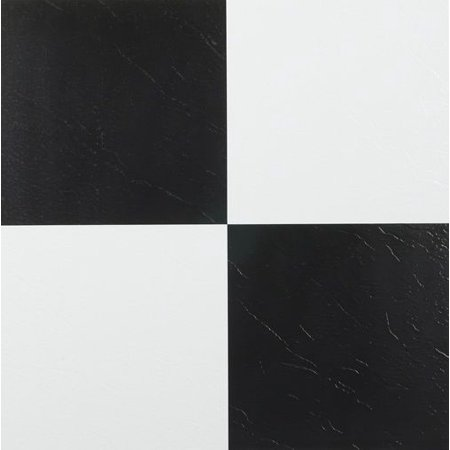 Achim Tivoli Black White 12x12 Self Adhesive Vinyl Floor Tile 45 Tiles