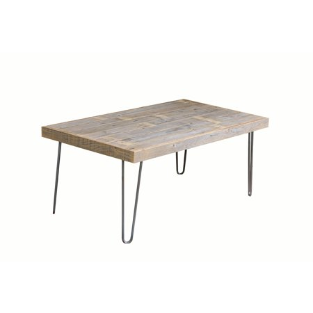 Brown Reclaimed Wood Large Industrial Natural Coffee Table ()