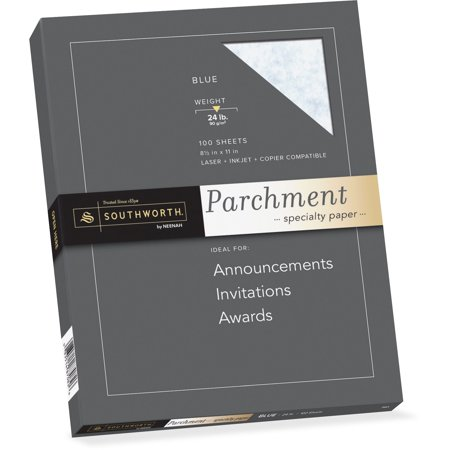 Southworth, SOUP964CK336, Parchment Specialty Paper, 100 / Pack, Blue (Southworth Parchment Paper)