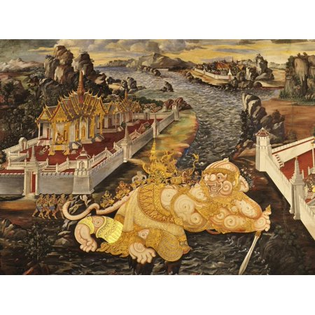 Scene From the Galleries, Royal Monastery, Grand Palace, Bangkok, Thailand, Southeast Asia, Asia Print Wall Art By Jochen Schlenker