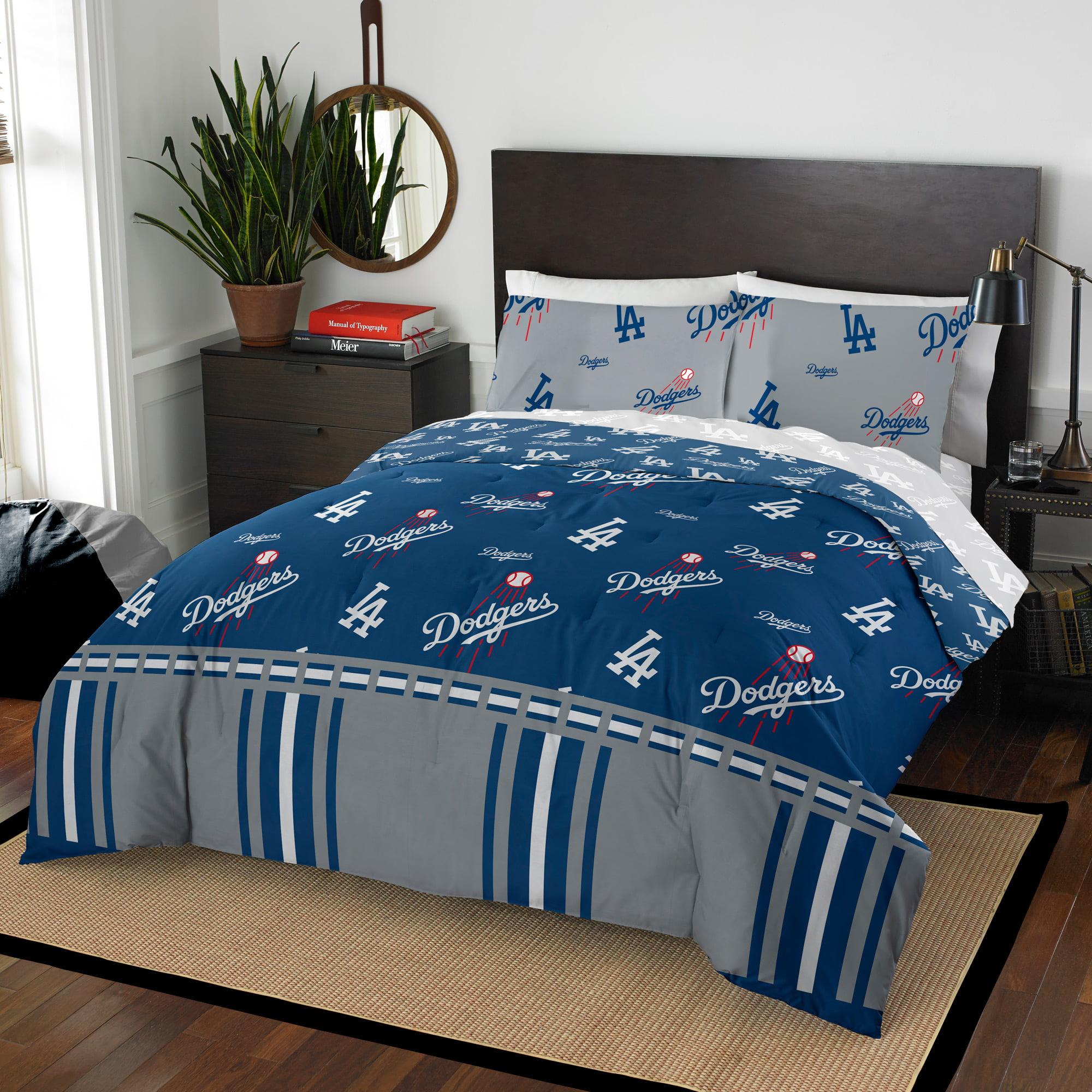 Comforter Set Queen Los Angeles Dodgers MLB 5pc Bedding ...