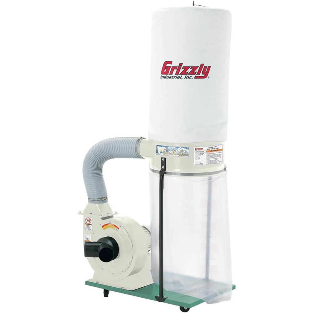 Grizzly G1029Z2P 2 HP Dust Collector with Aluminum Impeller Polar Bear Series by Grizzly