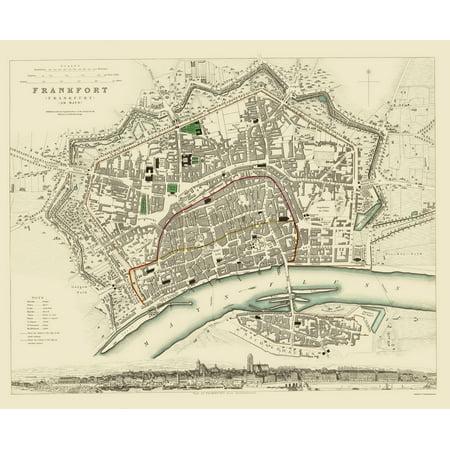 Old Germany Map Frankfurt Chapman 1837 23 X 28 02 Walmart Com