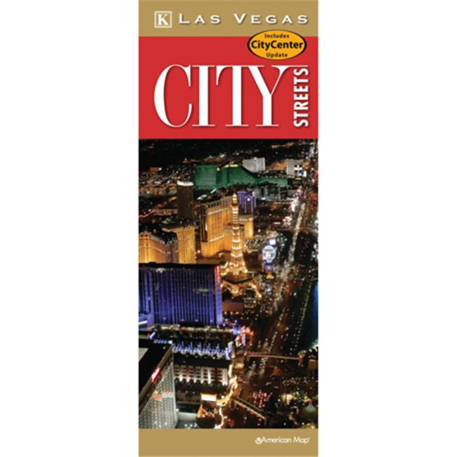 Universal Map 14629 Las Vegas City Streets Laminated Map - image 1 of 1