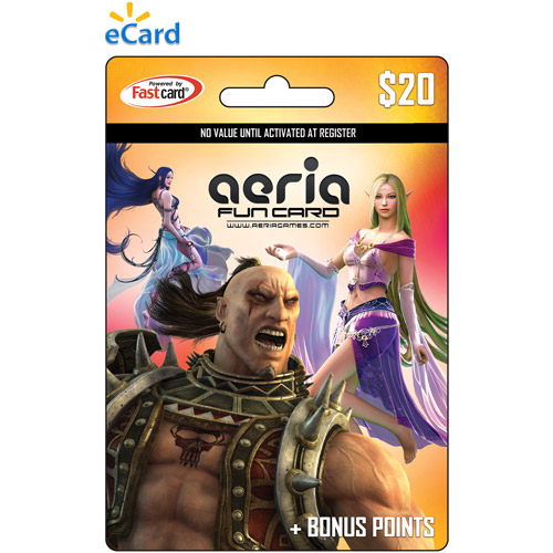 Aeria Cash Game eCard $20 (Email Delivery)