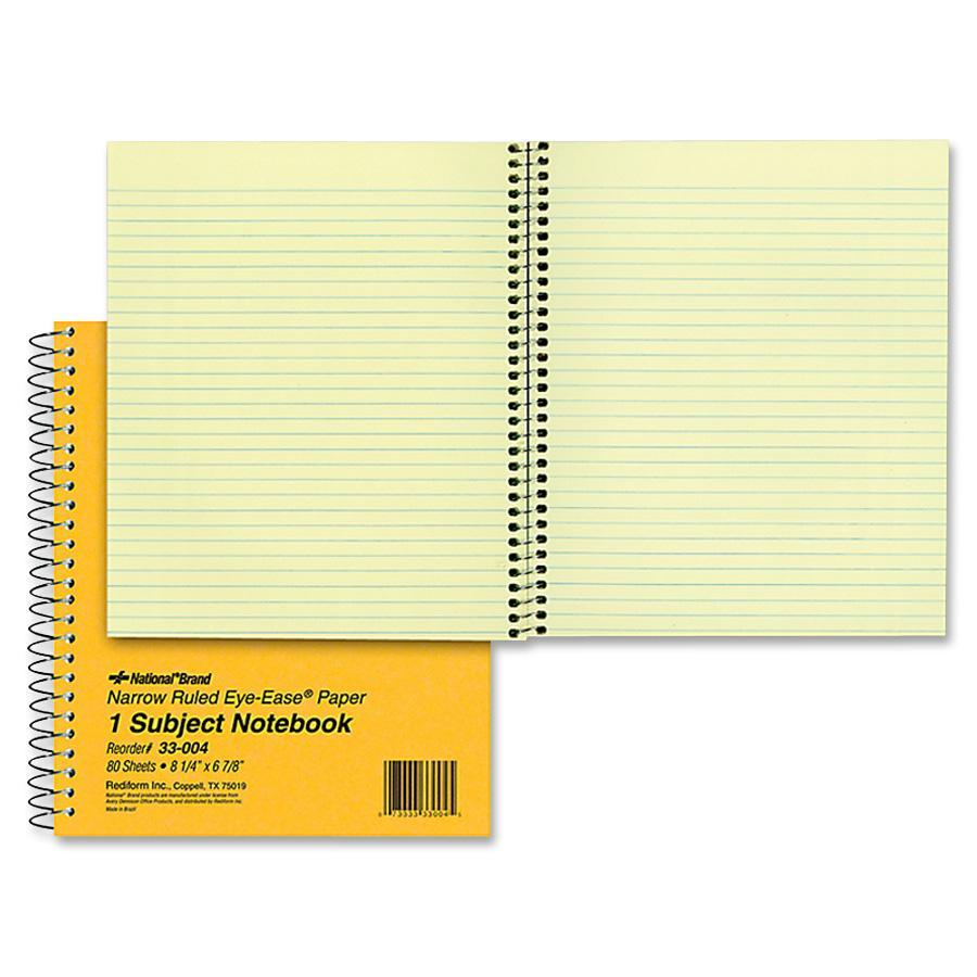 Rediform, RED33004, Brown Board 1-Subject Notebooks, 1 Each