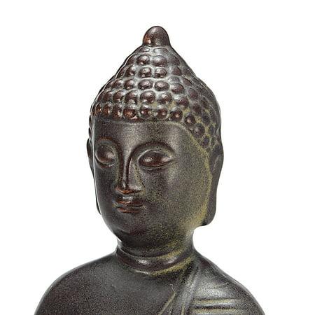 Home Buddha Incense Burner Holder Buddhist Statue Smoke Backflow Cone Censer Gifts - image 2 de 7