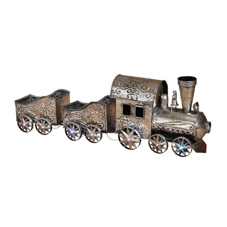 Holiday Antique Vintage Decorative Metal Musical Christmas Tree Train Set  LED - Holiday Antique Vintage Decorative Metal Musical Christmas Tree