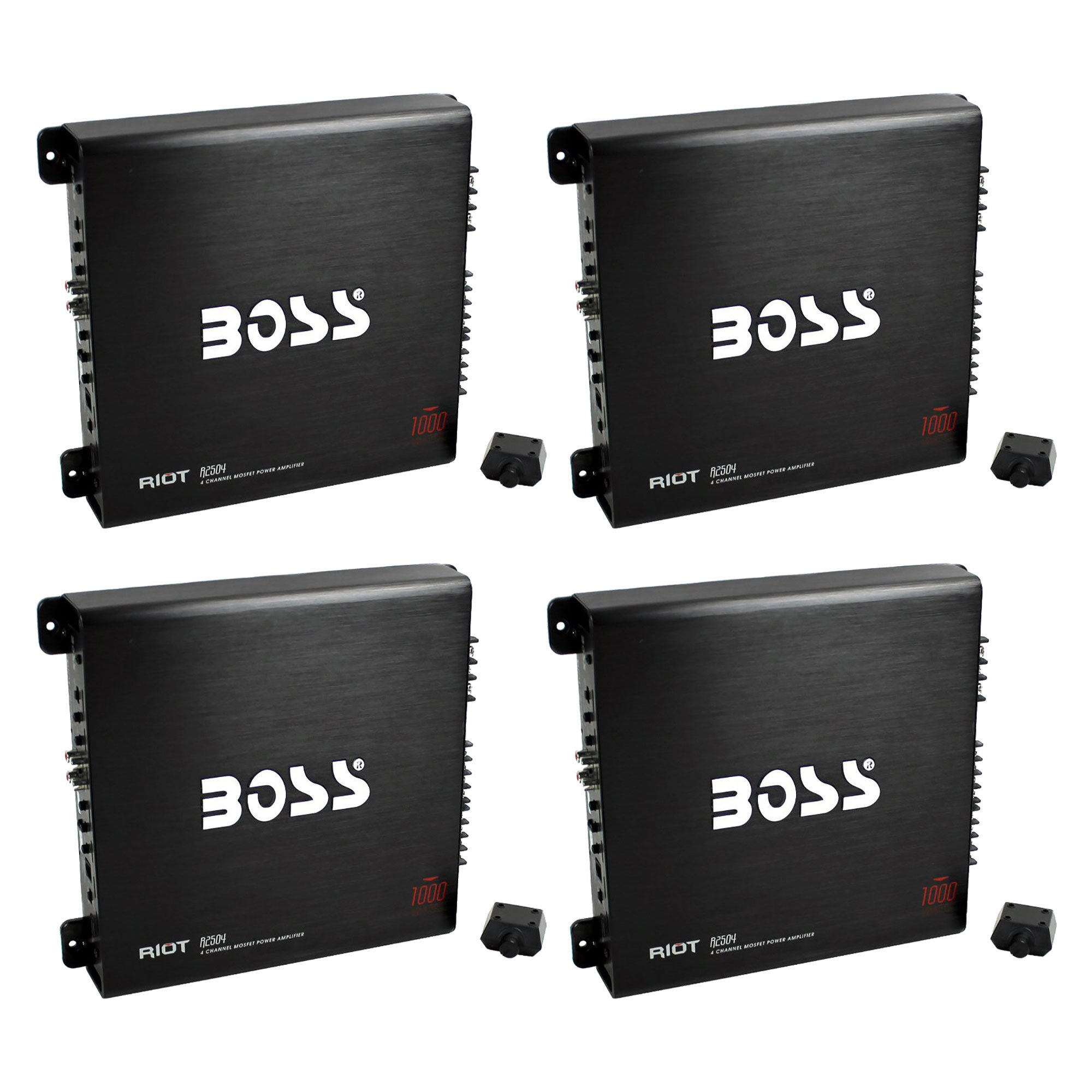 Boss Audio 1000W 4 Channel Car Audio Power Stereo Amplifier w/ Remote (4 Pack)