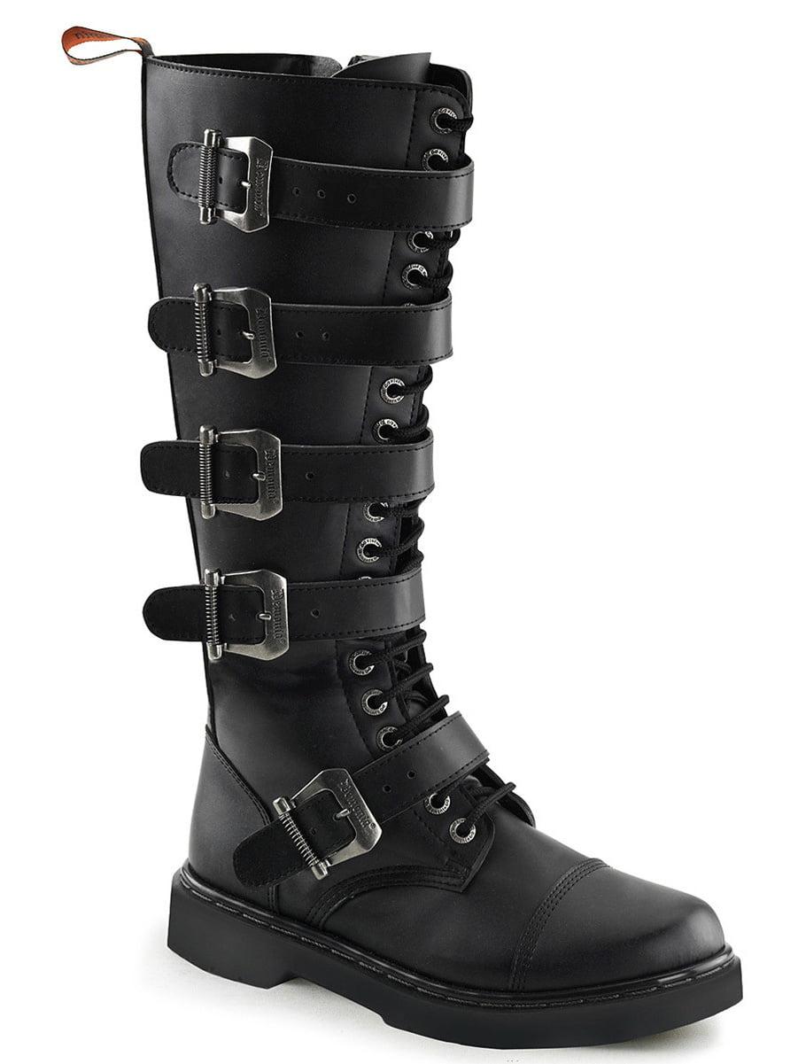 Mens Tall Combat Boots Black Vegan