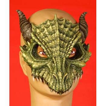 DRAGON HALF MASK-GREEN