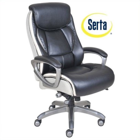 Awe Inspiring Serta Smart Layers Ergonomic Leather Executive Office Chair In Black Pabps2019 Chair Design Images Pabps2019Com