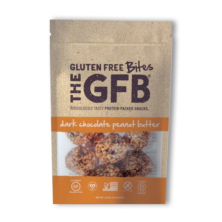 The GFB Protein Bites, Dark Chocolate Peanut Butter, 4 Ounce, Gluten Free, Non GMO 1 Pack