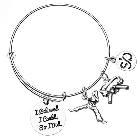 Karate Charm Bracelet - Martial Arts Belt Charm Bracelet Idea](Rave Bracelet Ideas)