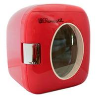 Uber Appliance UB-XL1 12-Can Retro Portable w/ Warmer Mini Fridge, Red
