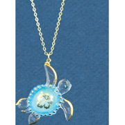 Glass Baron Sea Turtle Aloha Necklace Designer Jewelry by Sweet Pea