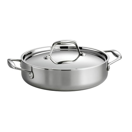 Covered Braiser - Tramontina Gourmet Tri-Ply Clad Covered Braiser