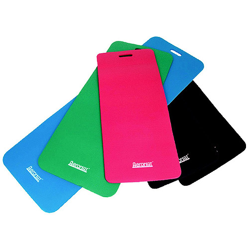 "Aeromat Phthalate-Free Workout Mat, 20"" x 48"" x 0.5"", PVC, Multiple Colors"