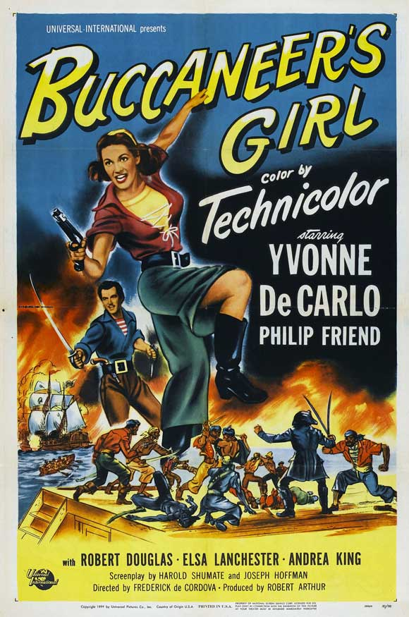 Buccaneer's Girl POSTER Movie (27x40) by Pop Culture Graphics