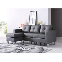 Braxton Small Space Convertible Sectional, Gray color