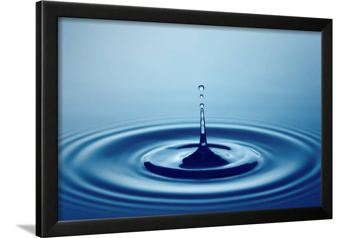 225 & Water Drop (Shallow DOF with Focus on Top Drop) Framed Print Wall Art By Johan Swanepoel
