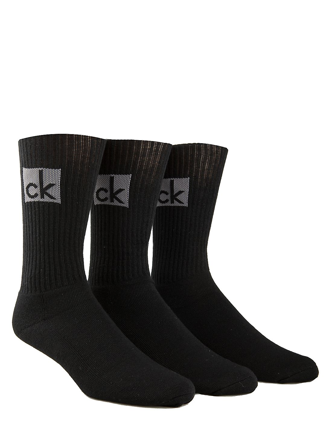 Knitted Cotton-Blend Socks - 3 Pack