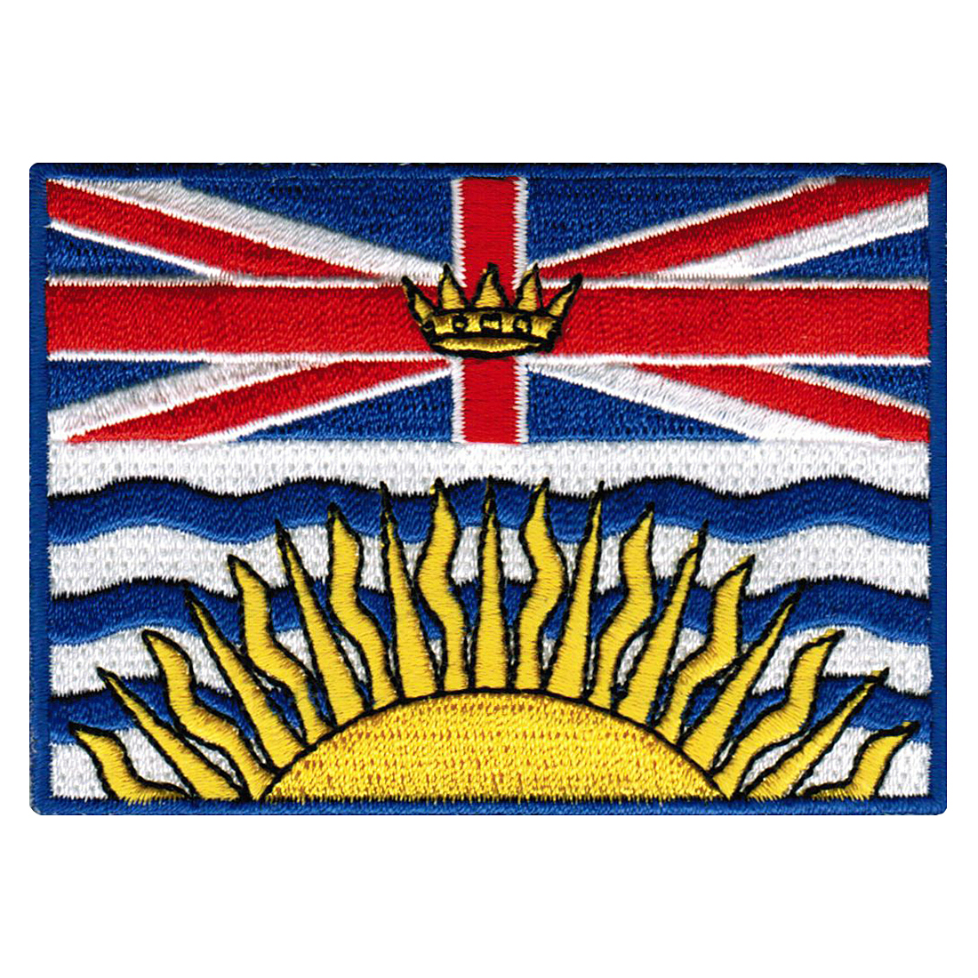 British Columbia Flag Embroidered Iron-on Patch