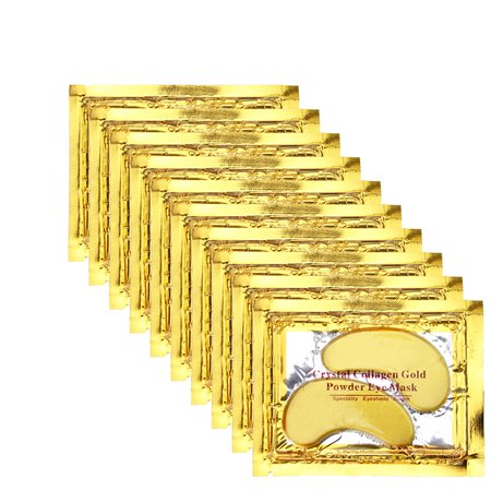 Anti Aging Crystal Collagen Gold Powder Eye Mask 20 Pairs (Purederm Collagen Eye)