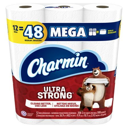 Charmin Ultra Strong Toilet Paper 12 Mega Rolls Walmart