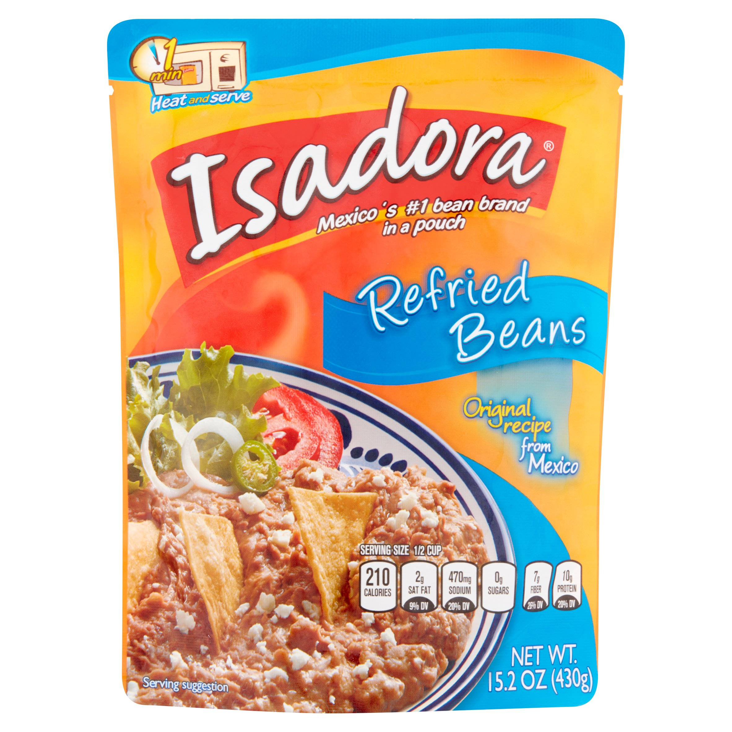 Isadora Refried Beans, 15.2 oz, 8 pack