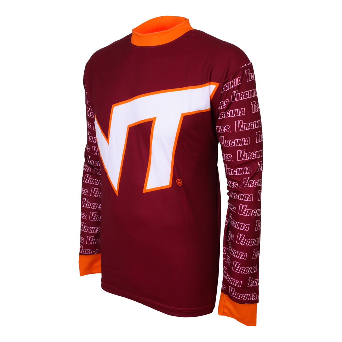Adrenaline Promotions Virginia Tech University Hokies Long Sleeve Mountain Bike Jersey
