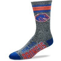 Boise State Broncos For Bare Feet Got Marbled Crew Socks - Gray