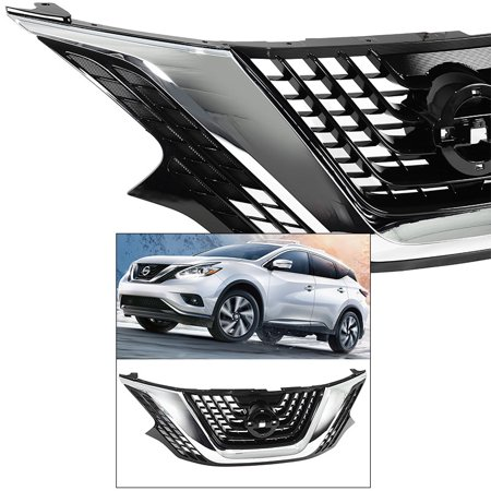 - Front Grille for 15-18 Nissan Murano Exterior Trim Front Grill Assembly Chrome