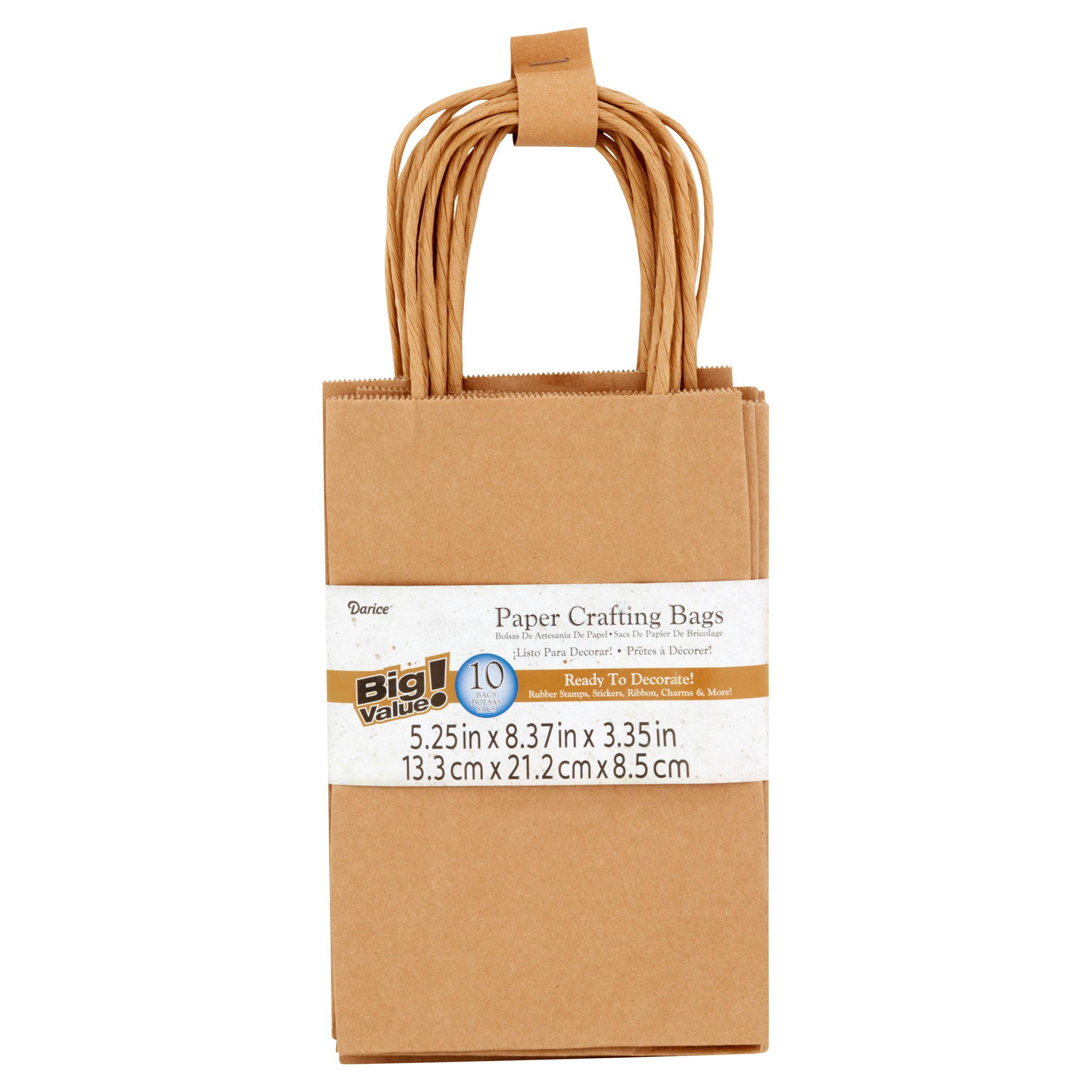 Darice Paper Crafting Bags, 10 Count