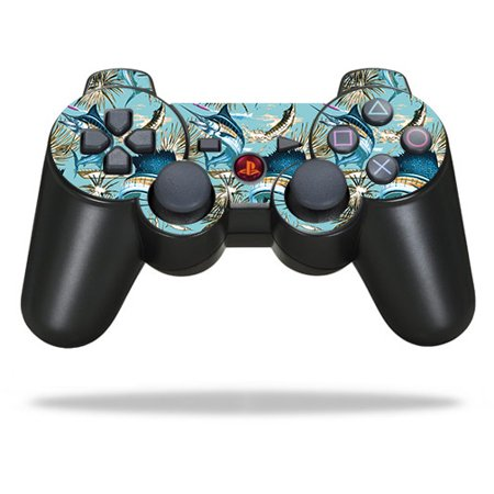 MightySkins Skin Compatible With Sony PlayStation 3 PS3 Controller wrap sticker skins Abstract Wood (Ps3 Controller Skin Weed)