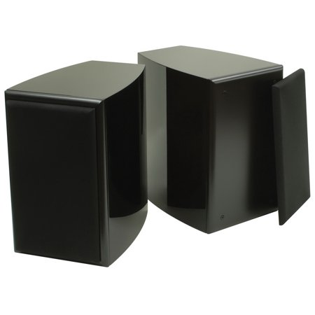 Dayton Audio Twc 0 25Bk 0 25 Cu  Ft  2 Way Curved Speaker Cabinet Pair Black