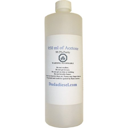 1 Quart / 950ml Bottle of Pure Acetone Concentrated Industrial Solvent Removes Paint Polish Wax Glue Adhesives
