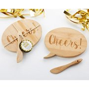 Cheers! Bamboo Cheeseboard and Spreader