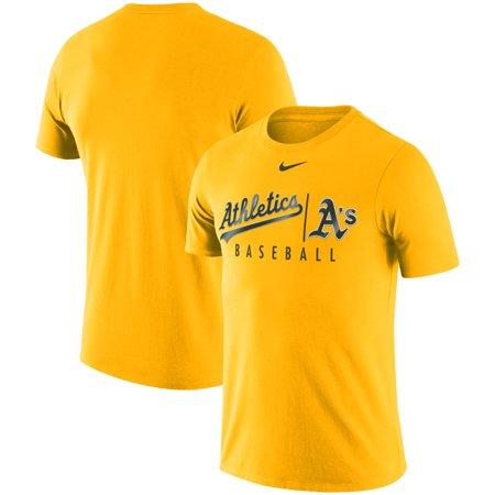 more photos 076c0 84758 Oakland Athletics Nike MLB Practice T-Shirt - Gold