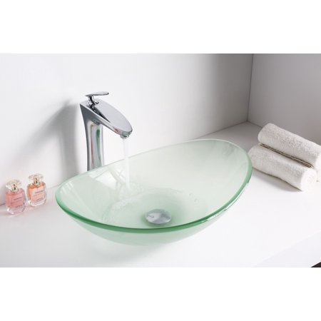 Anzzi LS-AZ086 forza Series Deco-Glass Vessel Sink in Lustrous Frosted Finish - image 2 of 5