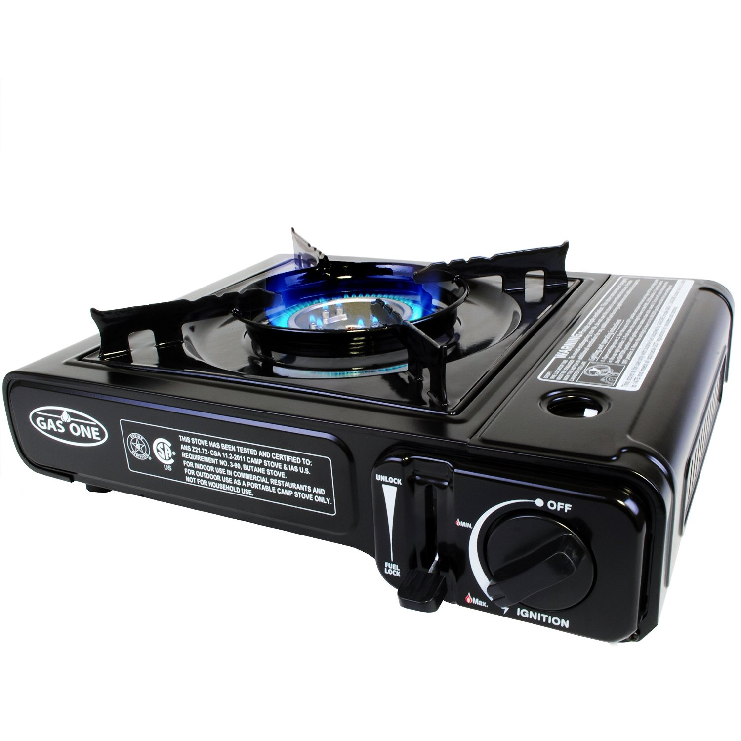 GAS ONE GS-3000 Portable Gas Stove with Carrying Case, 9,000 BTU, CSA Approved, Black by GAS ONE