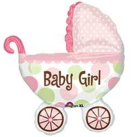 "Burton & Burton  31"" Baby Buggy Girl Balloon"