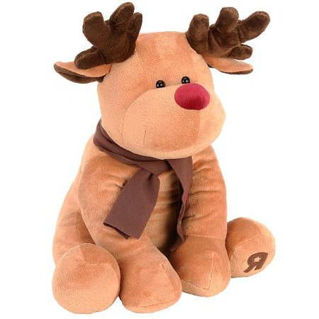 Rocky the Reindeer 17 inch Plush - Brown, Constructed from soft polyester material This cute reindeer features antlers and a scarf By Toys R Us - Toys R Us Lafayette