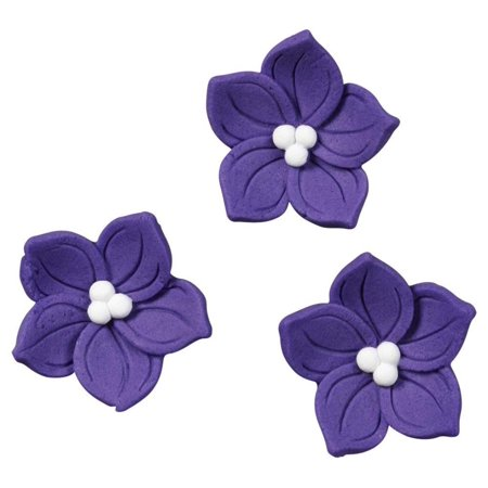 710-0266 Purple Posy Icing Decorations, 12/Pack, Perfect way to dress up cupcakes, brownies, ice cream, cereal treats and more! By Wilton](Halloween Brownie Cupcakes)