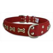 Angel™ Rotterdam Bones Valentine Red Leather Dog Collar-24X1.1.4