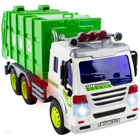 Garbage Truck Toys for 3 Year Old Boys and Girls - Friction Powered Toy Cars for Toddlers - Kids